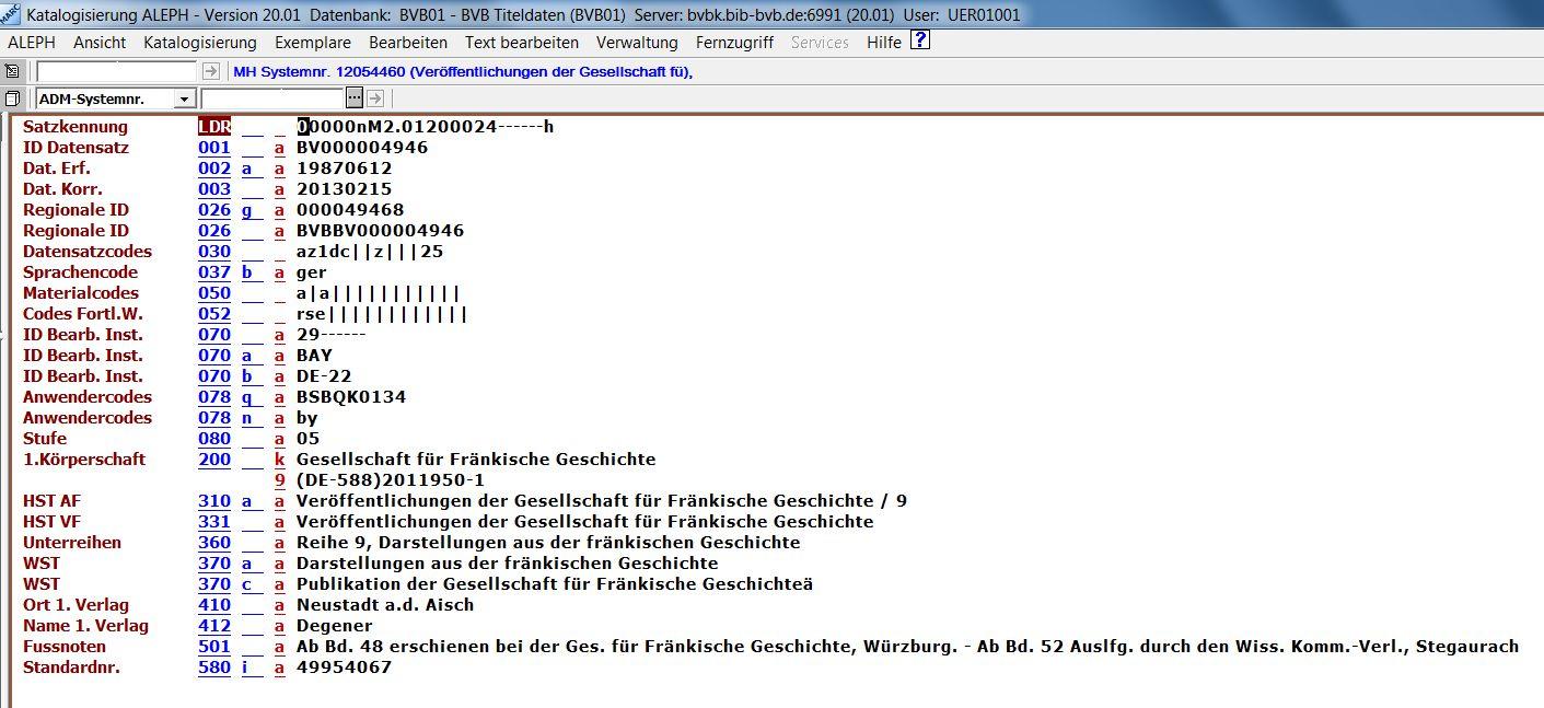 Eintragungen unter Körperschaftsnamen - Bibliotheksverbund Bayern